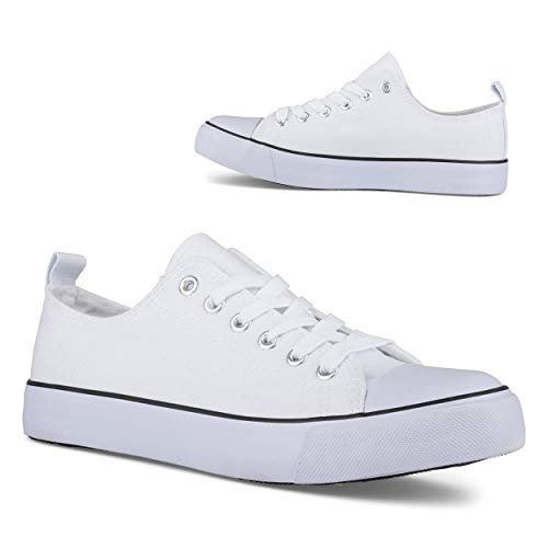 Twisted Womens Hunter Lo-Top Stylish Canvas Sneakers - HUNTER01 White, Size 10