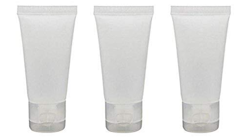 Qfeng 20 STKS Lege navulbare Plastic Cosmetische Sott Buis Flesje Flesjes met Flip Cover Make-up Travel Sample Verpakking Opslag Houder Container voor Tandpasta Shampoo Gezichtsreiniger Body Lotion (100ml/3.4