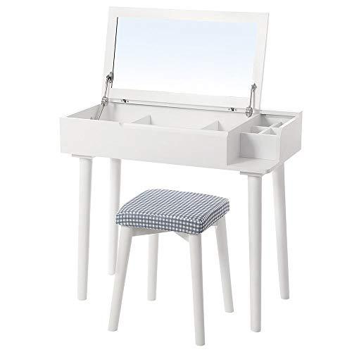 Why Choose BoeWan Practical Modern Dresser Durable Flip Top Mirror Makeup Dressing Table Writing Des...