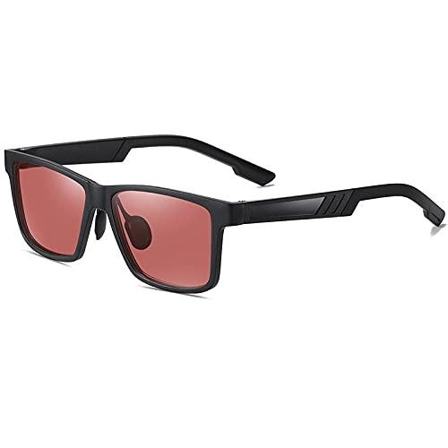 AMFG Gafas de sol polarizadas para hombres Classic Riding Riding Glass Vision Gafas de visión nocturna (Color : E)