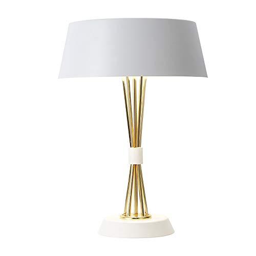 Lámpara de mesa regulable, de metal, moderna, luz de escritorio decorativa creativa, lámpara de lectura de noche de dormitorio para dormir E27