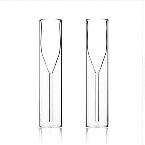 Ltong Champagne GlassDouble Wall Glasses Flutes Goblet Bubble Wine Tulip Cocktail Wedding Party, 2 kopjes, 115ml