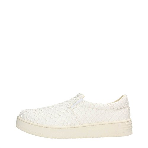JC PLAY BY JEFFREY CAMPBELL SLIP ON 2 LEATHER SNAKE WHITE (36)