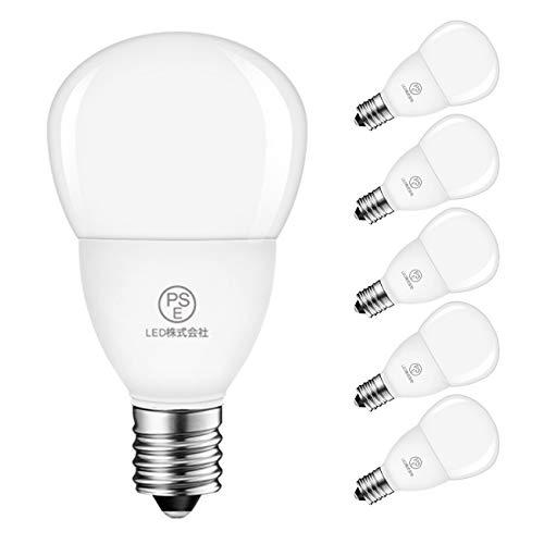LED電球 E17口金 40W形相当 470LM 4.5W ミニランプ ミニクリプトン 昼白色 5000K PSE認証 省エネ 6個入 3年保証 調光器非対応