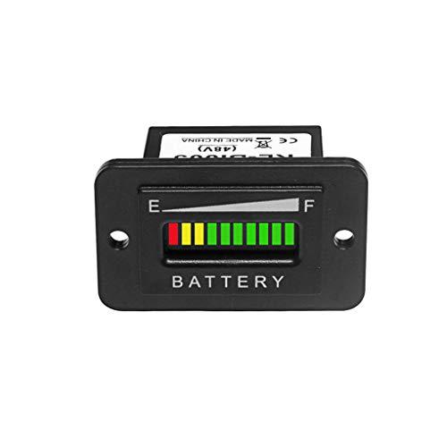 BA-BOLING 48V Volt LED Battery Indicator- Meter Gauge for Lead-acid Battery Motorcycle Golf Cart Car Jet Ski EZGO Club Car Yamaha Rectangle
