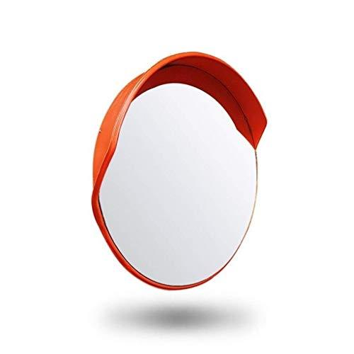Instalaciones de Transporte Lente Gran Angular, plástico Rojo Espejo Convexo Pasillo del Hospital Espejo de tráfico Espejo de Punto Ciego de Giro 45-120 cm (tamaño: 120 cm)