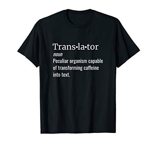 Wörterbuch-Definition: Translator Übersetzer Kaffeetrinker T-Shirt
