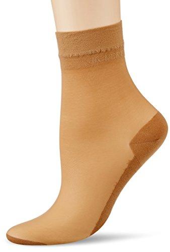 KUNERT Damen Cotton Sole Socken, 20 DEN, Beige (Cashmere 0540), 35/38