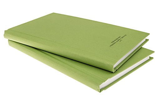DIY Indispensables US Military Log Record Books 2 Pack 5.25 x 8 Inch 96 Sheets with Rugged Sewn Case Binding Blue Line College Ruled Notebook NSN 7530002223521, Made in USA