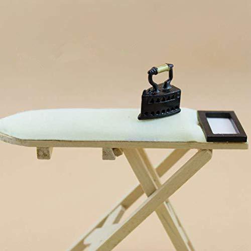 ACHICOO Mini wit houten strijkplank voor poppenhuis accessoires 1:12