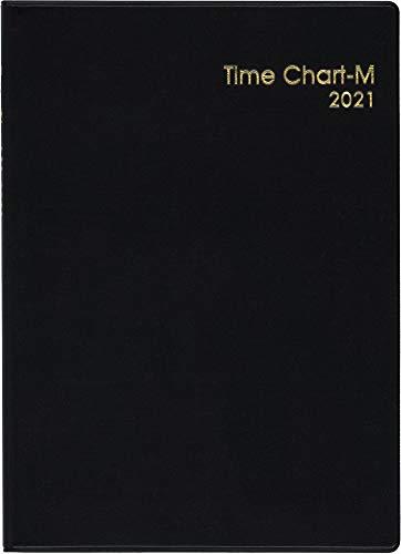 博文館手帳2021年A5マンスリータイムチャートMNo.136(2021年1月始まり)