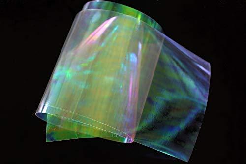 Tigofly 10 Stück 19 x 10 cm klare Fliegenbinden Regenbogenfolie Sabiki Rig Herstellung Shrimp Flash Back Wings Scud Nymphe Fliegenbinden Materialien