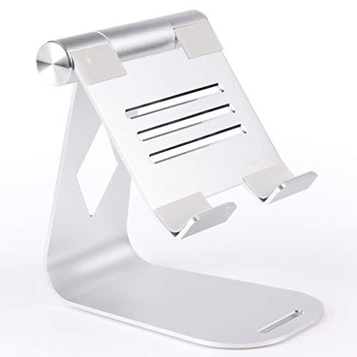 WZHZJ Soporte de Tableta para aleación de Aluminio Ajustable Tableta Plegable Soporte Soporte de Escritorio (Color : Silver)