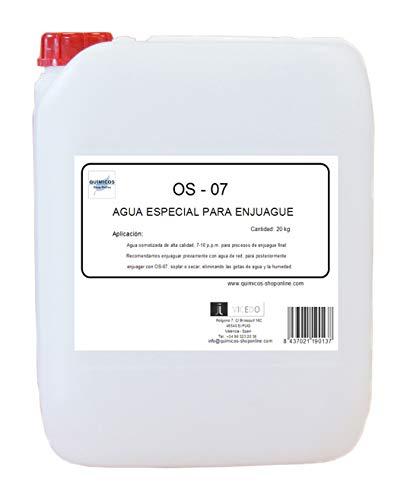 OS-07 Agua DESIONIZADA (20L), ENJUAGUES ESPCIALES. Electronica