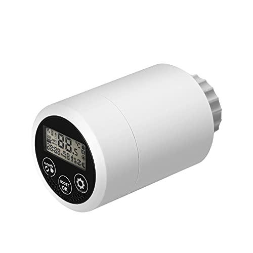 Válvula de radiadores Termostato Válvula de radiadores HY366 Válvula de radiadores Válvula de radiadores inteligente Teléfono móvil Control de APP Ajuste inteligente de temperatura (M30 * 1.5mm)