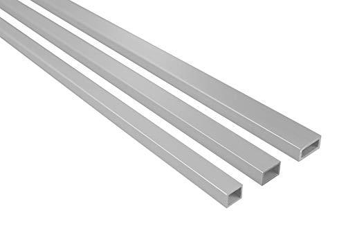 2 metros tubo rectangular aluminio anodizado resistente efecto B50-B52