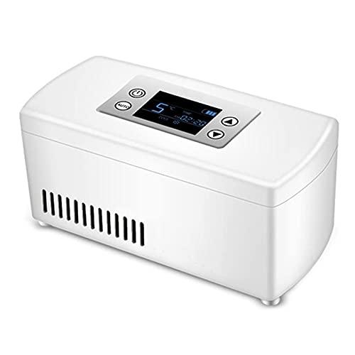 WANGXNCase Refrigerador De Medicamentos, Refrigerador Pequeño con Pantalla Led Caja De Insulina Portátil USB Adecuada para Viajes Y Campamentos