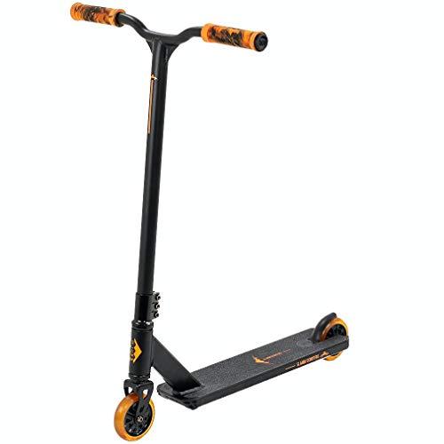 Slamm Scooters Classic V8 Roller, Erwachsene, Unisex, Schwarz/Orange (Mehrfarbig), Einheitsgröße