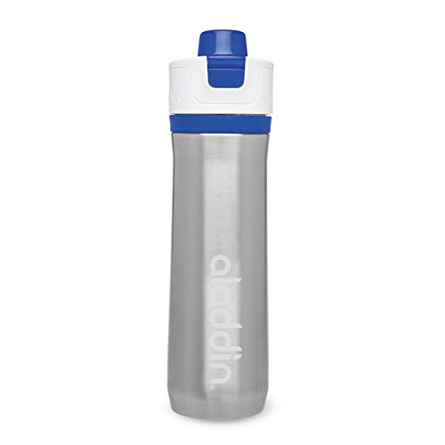 Aladdin Active Hydration Trinkflasche, Edelstahl, Blau, 7,9 x 8,4 x 27,2 cm