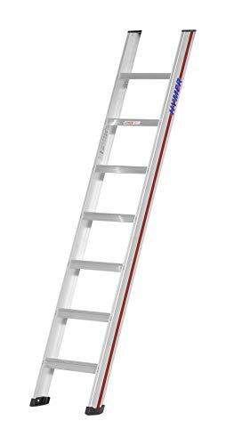 Hymer trapladder 5 treden (brede treden, grote ladderschoenen, D-holm-concept, werkhoogte ca. 1,95 m) 601205