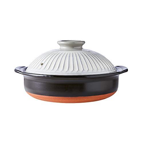 Calor-Resistente Cerámica Olla De Barro Cocotte Soup Pot Cazuela,Conducir-Gratis Mercurio-Gratis No-nocivo Seguro De Usar,Auténtico Japonés Hot Pot-Blanco 27.3x13.9cm(11x5inch)
