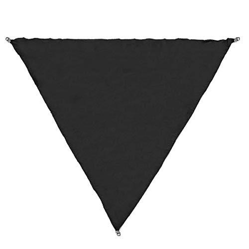 Zjcpow Toldo de vela de 3/5 m, extra resistente, para exteriores, triángulo, jardín, patio, coche, parasol para exteriores (tamaño: L; Color: Negro)