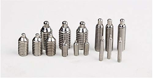 NO LOGO L-Yune, 20pcs M4 X 10 mm M4 * 10 4 mm 304 Edelstahl Sechskant Feder Pin Plunger Set Screw (Größe : 20pcs M4 X 10mm)