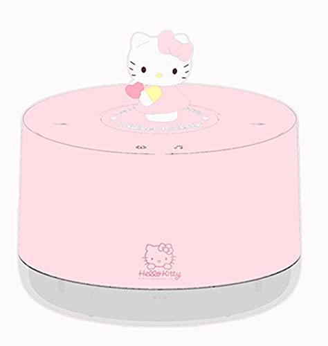 NCHEN Hello Kitty Música Humidificadores,1000ML Doble Spray Humidificadores,USB Humidificadores,Waterless Auto-Off,Noche Luz Humidificadores De por Vida Casa Oficina-Rosado