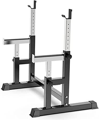 Peso sollevamento cremagliera multifunzionale Barbell rack Capacità Barbell Peso Rack Home Gym Gym Fitness Regolabile Squat Rack Peso Panca da (Colore: nero Dimensioni: 80-120 cm)-80-120 cm._Nero