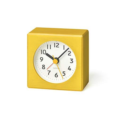 Lemnos Wecker Farbe Gelb - das leise Uhrwerk