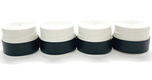 グリップテープ 白・黒 4個セット ホワイト ブラック モイスト タイプ オーバーグリップ テニス バドミントン 他 (ホワイト)