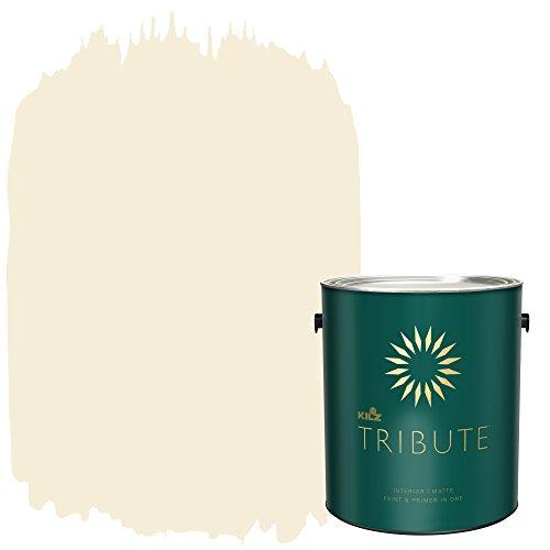 KILZ TRIBUTE Interior Matte Paint and Primer in One, 1 Gallon, White Peony (TB-04)