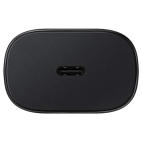 Samsung Galaxy Buds Live, Kabellose Bluetooth-Kopfhörer mit Noise Cancelling (ANC), ausdauernder Akku, Schwarz (Deutche Version) & Schnellladegerät, 25 W, USB-Port Typ C (ohne Kabel)