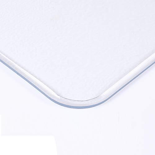 Geovne Mantel de Plástico Mate,Mantel Transparente Fácil de Limpiar,Mantel Protector Cristal Suave,Cubierta...
