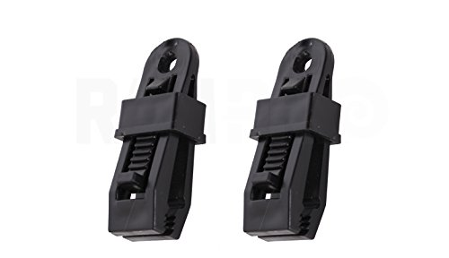 """2pc Heavy Duty Clamp Set - 3¼"""" Outdoor Camping Tarp Clip - Sliding Secure Lock Grip Awning Clamps"""