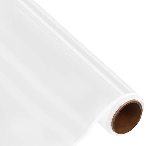 BELLE VOUS Vinylfolie Selbstklebend Weiß - 30 cm x 3 m - Permanente Plotterfolie zum Basteln und Dekorieren Klebefolie Scrapbooking Schablonen Cameo Stanzformen und Fahrzeugaufkleber Plotter