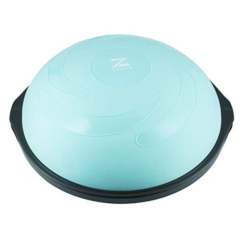 Z ZELUS 64 cm Pelota de Equilibrio Inflable con 1 Pelota de Yoga Adicional y Bomba Bola de Yoga con 2 Bandas de Fitness Capacidad 680 kg Equipo de Entrenamiento de Fuerza Yoga, Fitness (Verde)