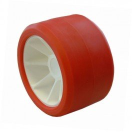 ALCIUMPECHE Galet 120 Polyamide Rouge - 75x120 mm A21 pour remorque - MECT-06185