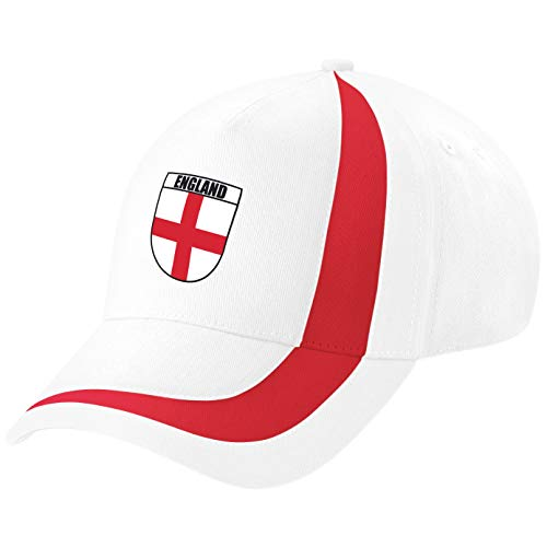 England St Geroge Cross Hat Cap Great for Support England in Cricket, Rugby Football or Birthday Gift for any Sports English Fan White/Red