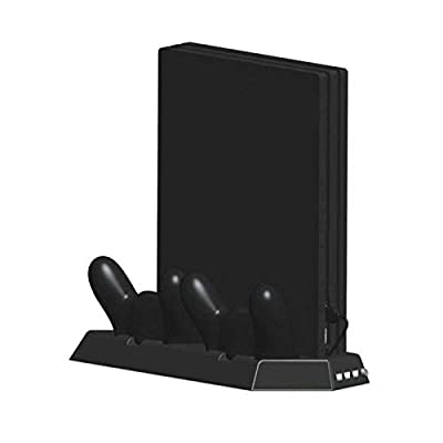Vertical Stand USB HUB for Regular PS4 with Cooling Fan Controller Charging Station for Sony Playstation 4(Not for Pro/Slim)