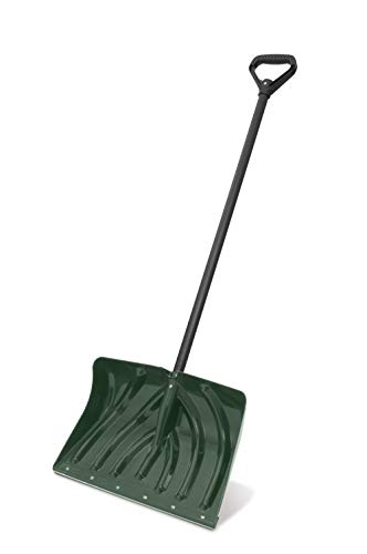 Suncast SC1350 Snow Shovel/Pusher Combo with Ergonomic Shaped Handle and Wear Strip, Green