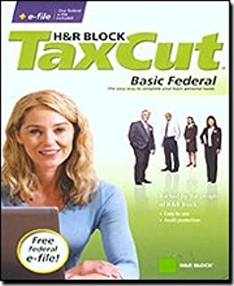 The Best H&R Block TaxCut 2008 Basic Federal + e-file-10307 - H&R BlockTaxCut Basic for 2008 with Federal + E-File is for thosepreparing a federal return who want the best value, and convenience of paying for one federal return and one state return (additional fee), and including up to 5 Free Federal E-Files. Do your taxes with confidence knowing you have the highest level of H&R Block tax expertise and guidance. Get answers to your specific tax questions via phone or e-ma