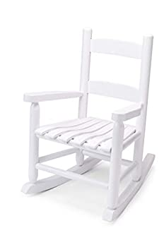 Children's Rocking Chair by Troutman Chair Company - Indoor and Outdoor Rocking Chair For Sun Rooms Porches Living Rooms Bedrooms Nurseries - Fully Assembled - No Glue - Made in USA - White Rocker