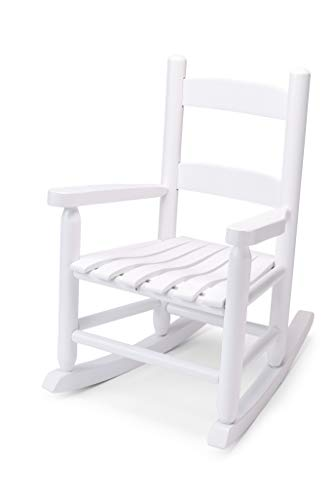 Children's Rocking Chair by Troutman Chair Company - Indoor and Outdoor Rocking Chair For Sun Rooms, Porches, Living Rooms, Bedrooms, Nurseries - Fully Assembled - No Glue - Made in USA - White Rocker