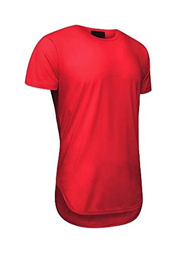 Camisetas masculinas Victorious Hipster com bainha curvada, Vermelho, X-Large