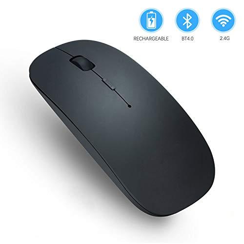 Home-Neat Bluetooth Maus Geräuschlos Kabellose Mouse, Tragbar Wireless Mäuse mit 1000/1400/1600 DPI Optional für PC Laptop iMac Macbook Microsoft Pro, Büro Zuhause- Schwarz