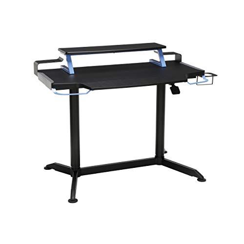 "RESPAWN 3000 Computer Ergonomic Height Adjustable Gaming Desk, in Blue (RSP-3000-BLU), 23.625"" D x 42"" W x 33.5""-49.5"" H"