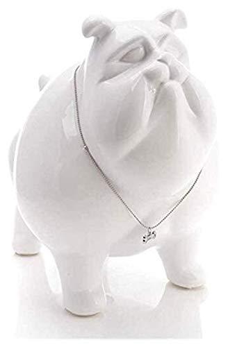 WQQLQX Statue Bulldogge Hundestatue Keramik Home Schreibtisch Tier Dekoration Skulptur Wohnaccessoires Sammlung Dekoration Zubehör Figuren Skulpturen