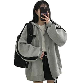 Fashion Hoodie Women Harajuku Streetwear Kawaii Oversized Zip Sweatshirt Clothes Korean Long Sleeve Top