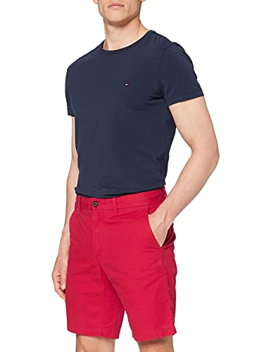 Tommy Hilfiger Herren Brooklyn Light Twill Shorts Rot (Haute Red 611) W33/L32